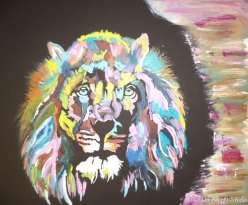 Psychedalic Lion