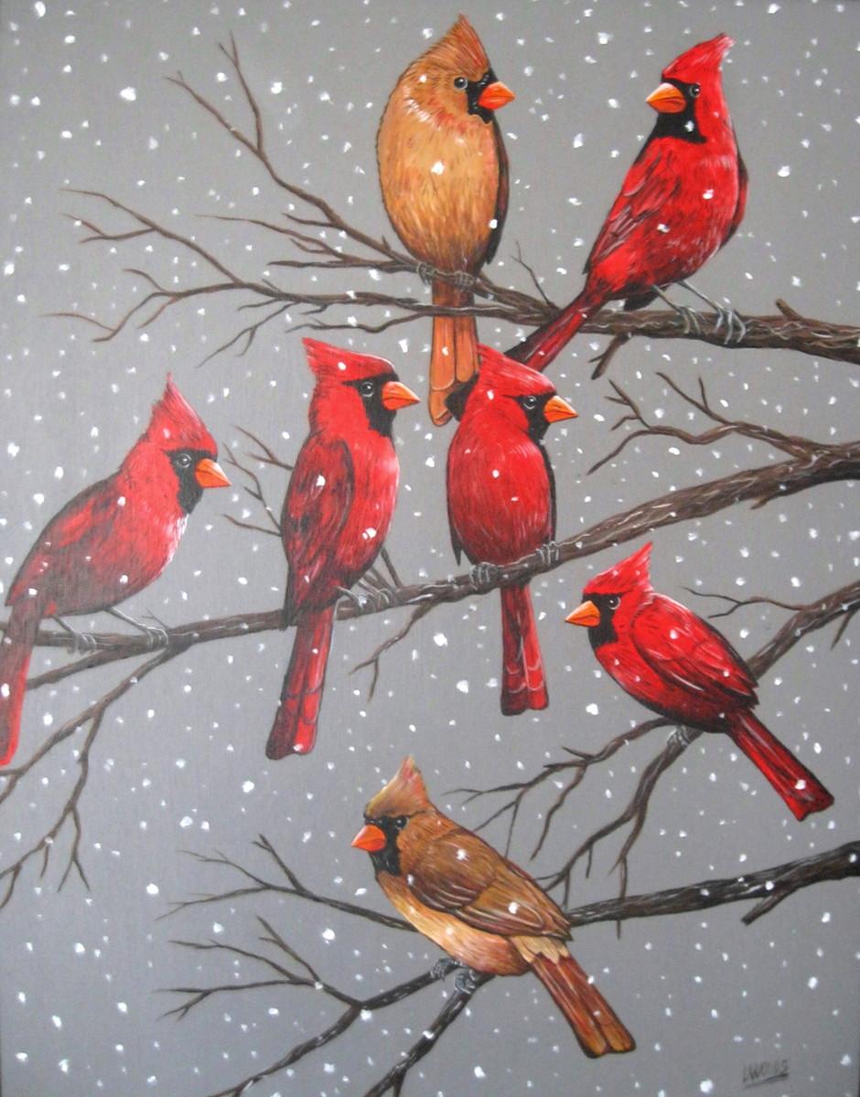 Winter Cardinals (large view)