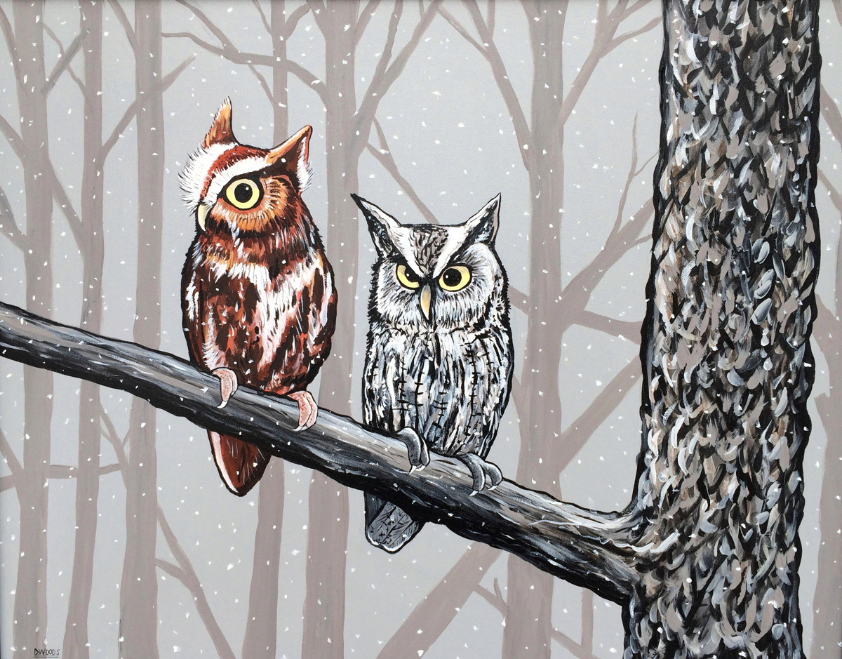 Winter Owls (large view)