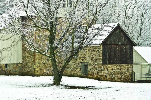 Stone Barn Winter