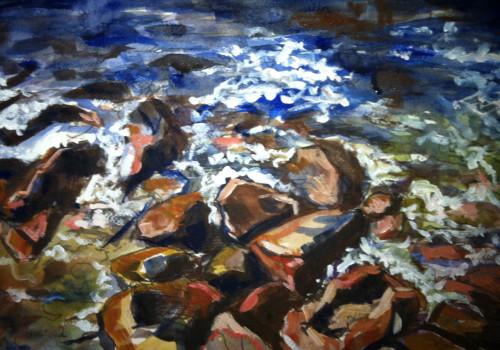 Rocks at Newport by Elizabeth Anne Babb
