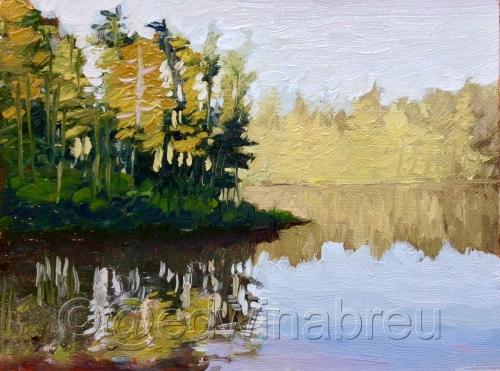 Lake Pochade #14 by Edwin Abreu