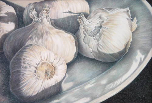 Garlic V by Eileen Baumeister McIntyre