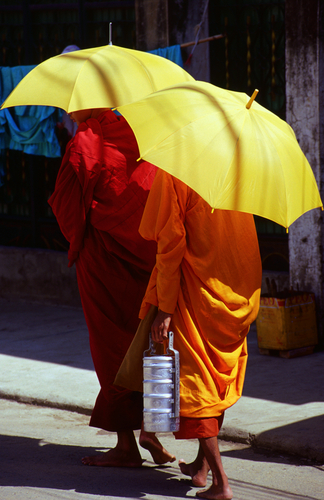 Monks Seeking Alms