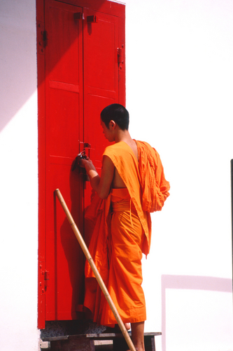 Monk at the Door