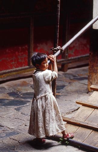Girl in Monastery