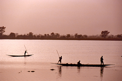 Fishing on the Niger River