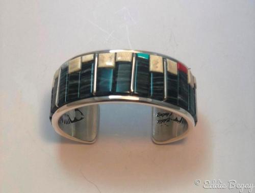 Zebra Bracelet by Eddie Begay