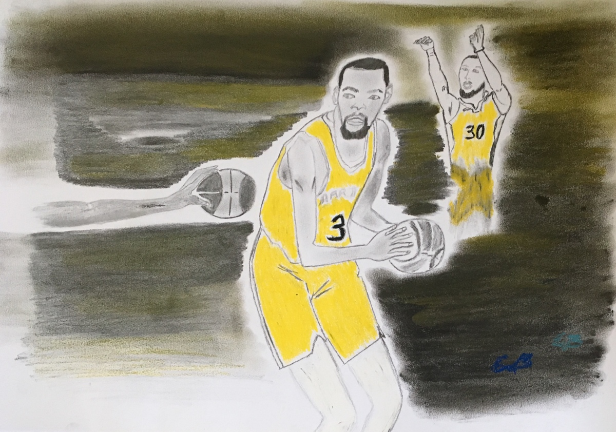 Kevin Durant Abstract Art
