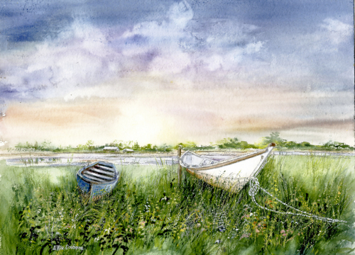 Boats in the Grass