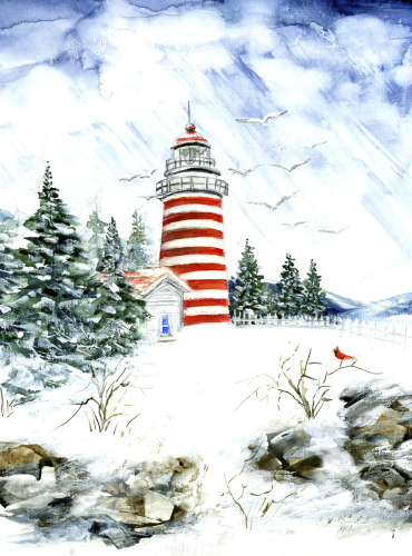 Candie Stripped Lighthouse