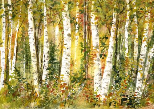 Golden Birch Forest