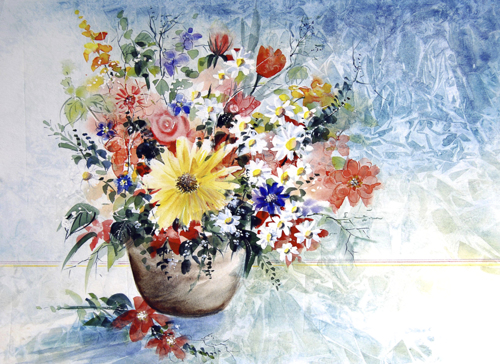 Sahara Flowers in Vase
