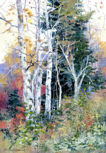 Birch Woods by Ellie Carbone Art