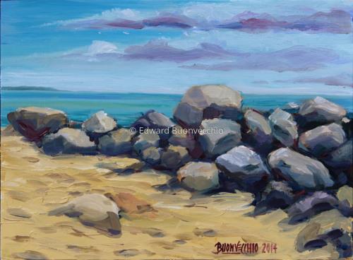 Ocean Park Beach Boulders