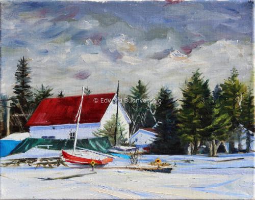 Frozen on Rangely Lake