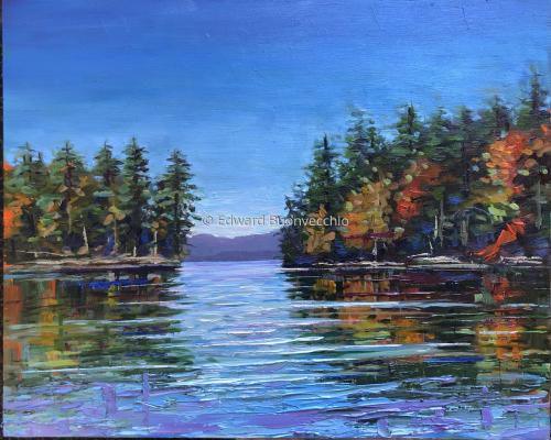 Autumn Reflections on the Cobbosseecontee