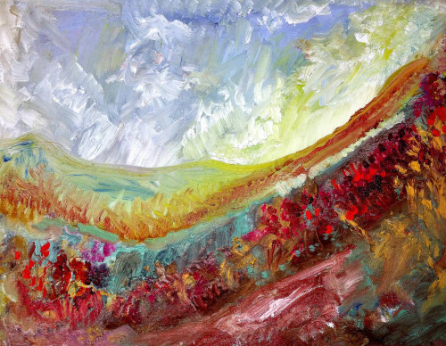 Dawn Mountains by Elliot Essman Landscape Artist