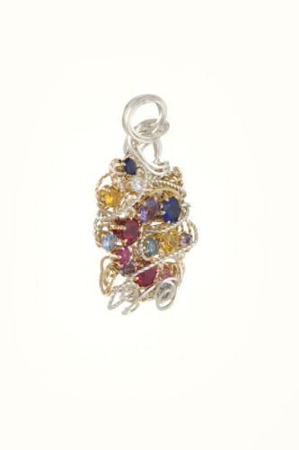Silver and Gold Mother's Pendant