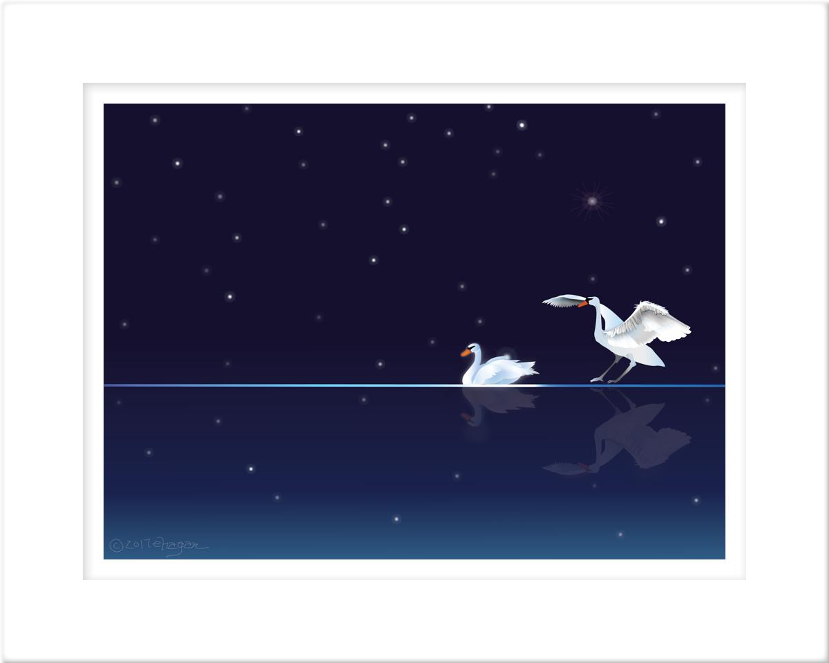 Swans that Swim at Night PRINT (large view)