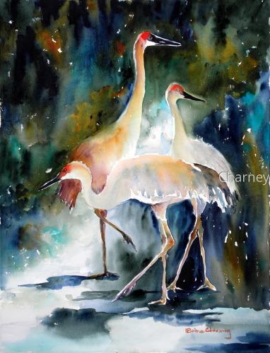 Indigo Cranes
