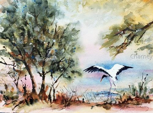 Stork in Ink