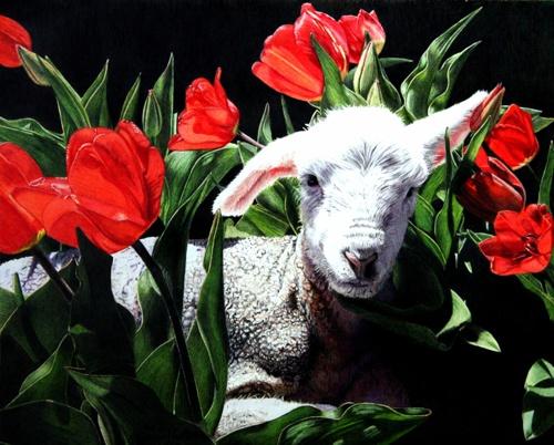 Tulip Bed by Eileen Nistler