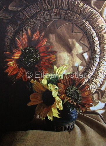 Sunflowers and Vera's Pillow (large view)