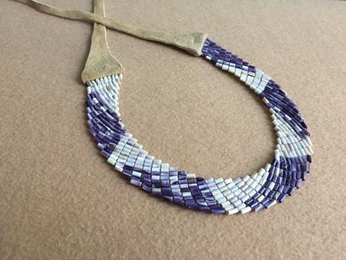 Traditional Eastern Wampum Alliance Collar by Elizabeth James-Perry Original Wampum Art