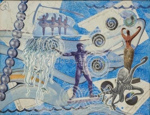 Poseidon Blue by Elaine Larson Arts