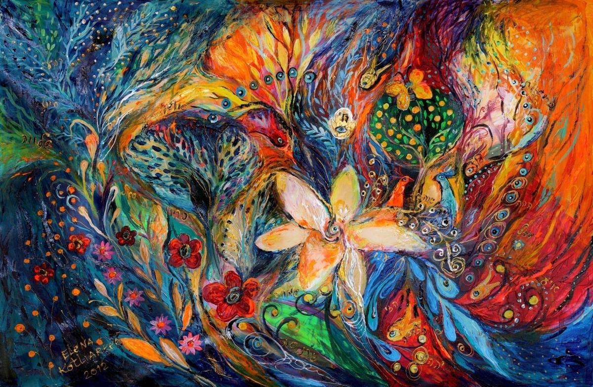 Contemporary judaica artwork by Elena Kotliarker (large view)