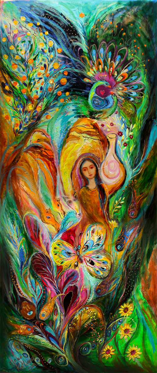 Women of Tanakh: Rebecca watered the camels (large view)