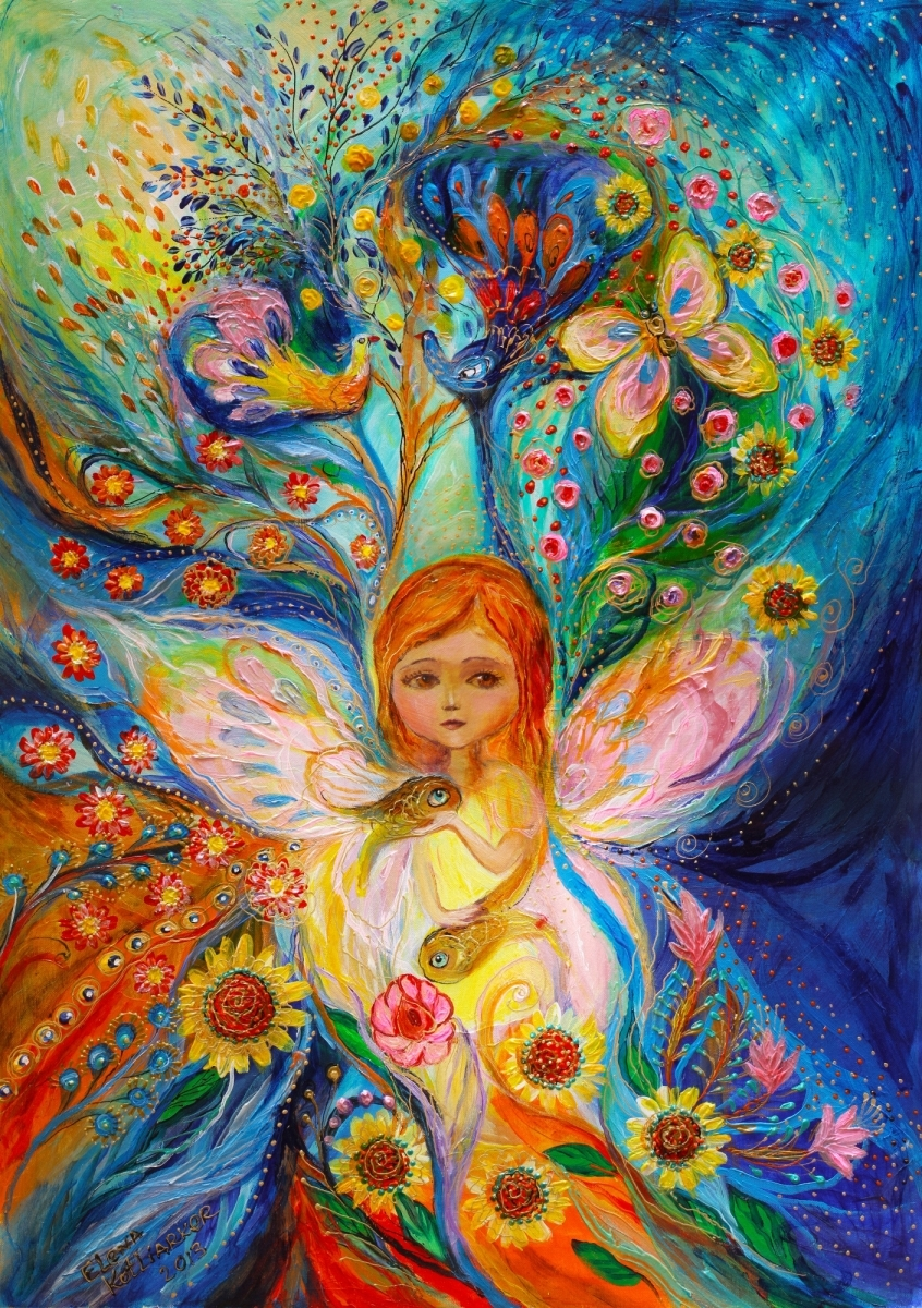 My little fairy Caren: superb quality giclee art print (large view)
