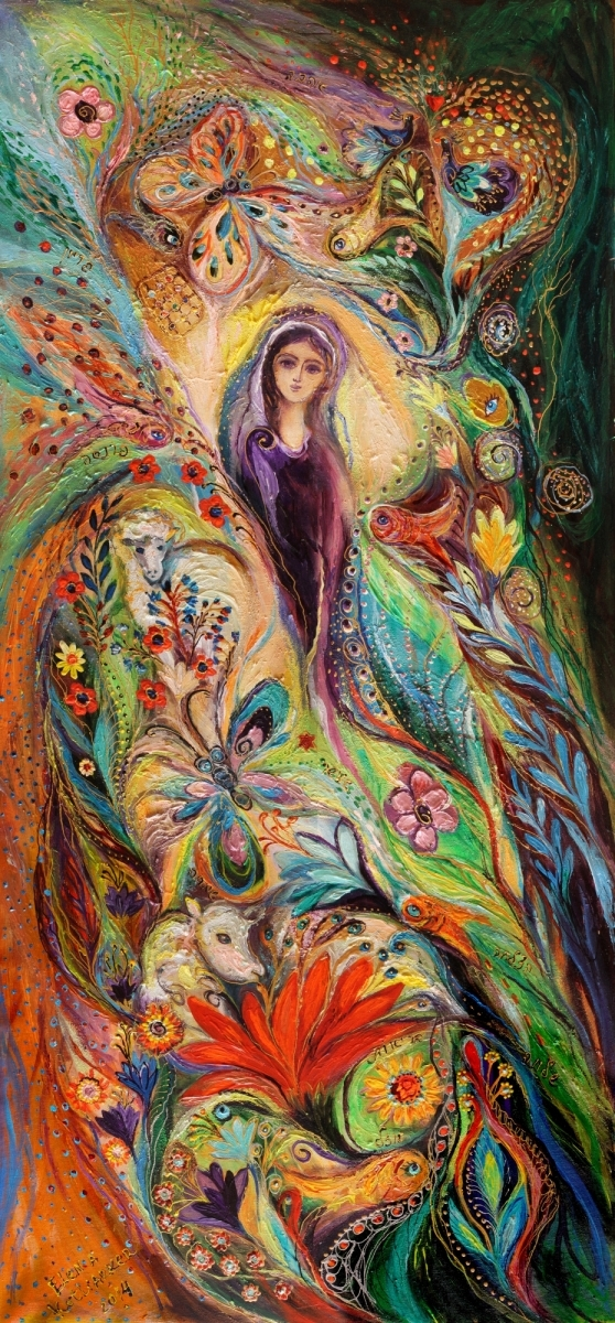 The women of Tanakh series: Story of Rachel. Superb quality XXL giclee art print (large view)