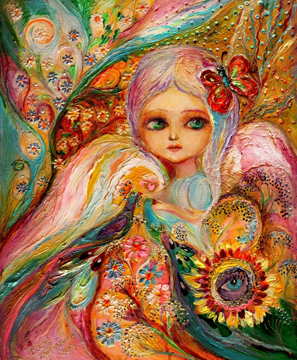 My little fairy Estelle - superb quality giclee art print (large view)