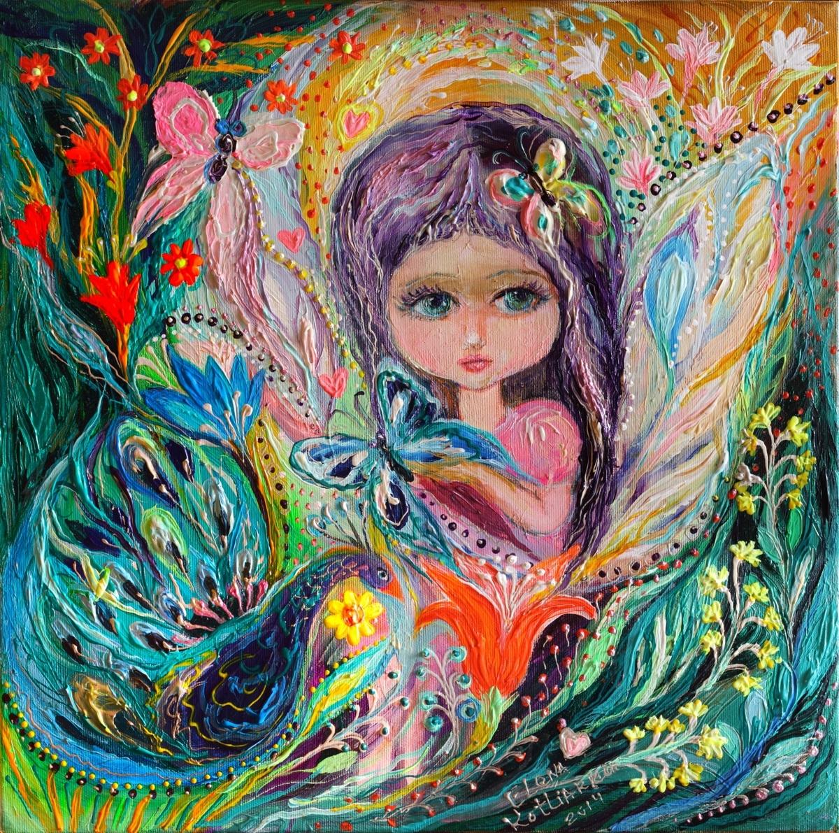 My little fairy Iris - superb quality giclee art print (large view)