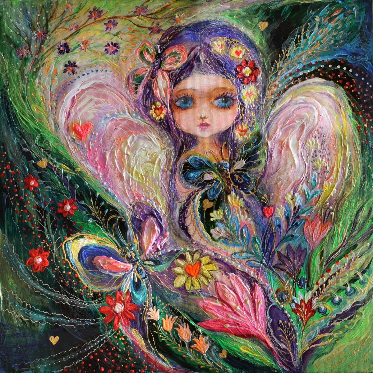 My little fairy Jemima: superb quality art nouveau canvas print (large view)