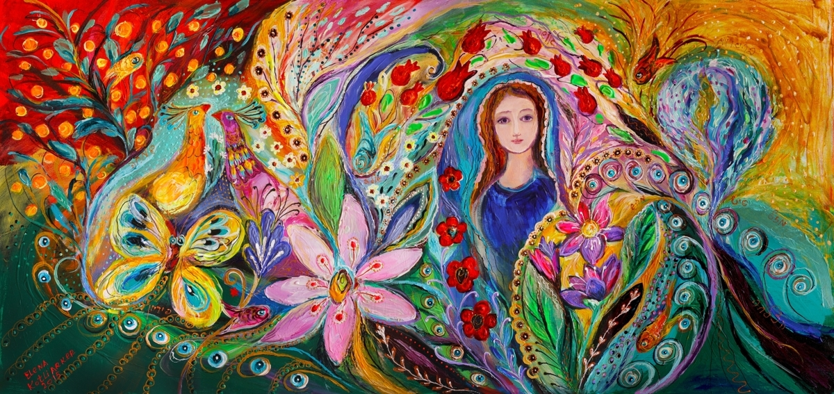 The women of Tanakh - Leah and Flower of Mandragora (large view)