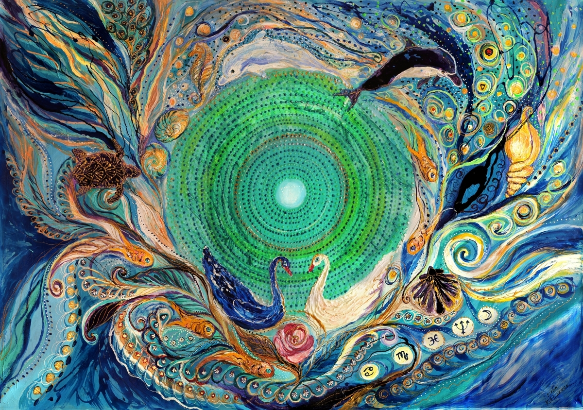 Mandala series #1. Element Water (large view)