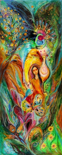 Rebecca watered the camels: Superb quality XXL giclee art print Elena Kotliarker