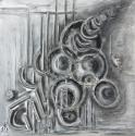 abstract , mixed media on canvas (thumbnail)