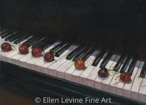 Cherries on the Piano by Ellen Levine Fine Art