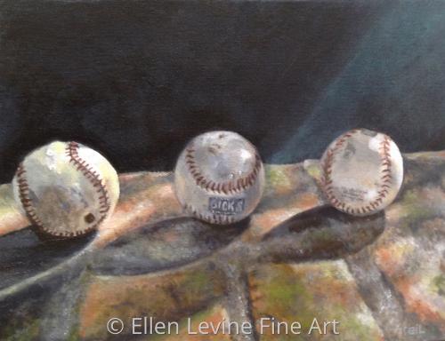 Three Baseballs in the Morning Light