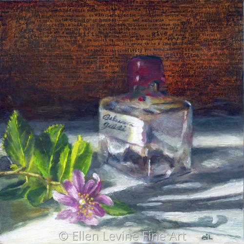 Balsamic bottle and flower