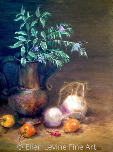 Still Life With Copper Vase