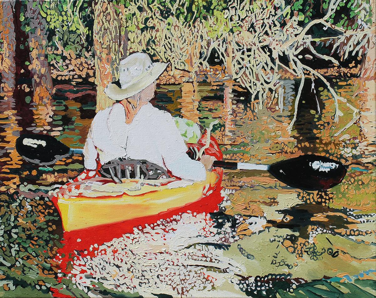 Kayak Paintings Art