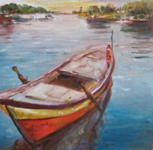The Little Red Row Boat by Elif Burduroglu
