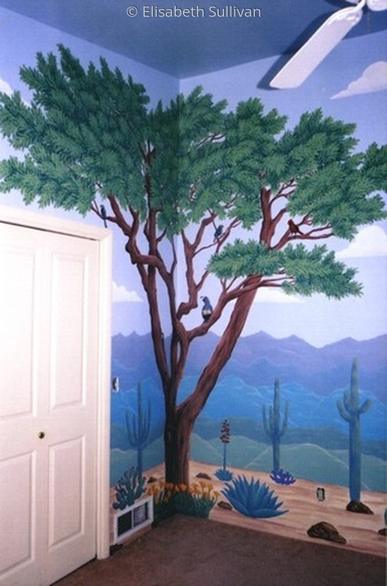 Desert Plants and Animals Mural (large view)