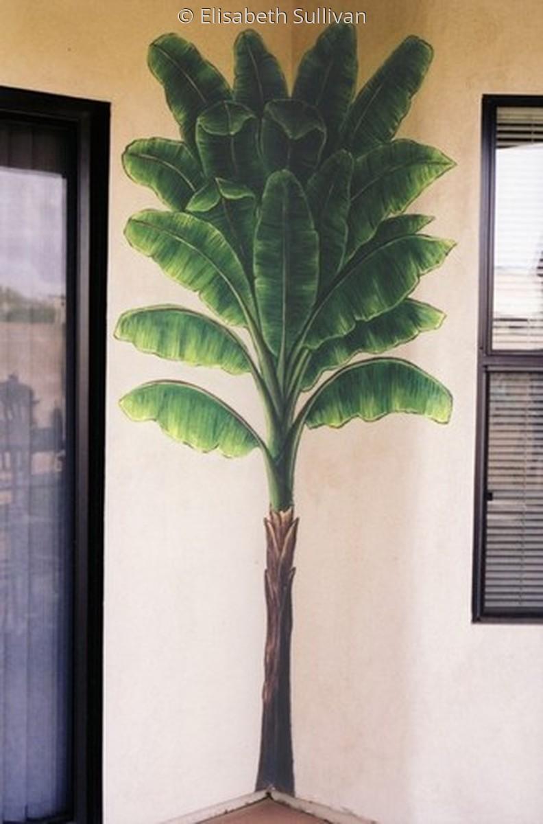 mural of banana tree (large view)