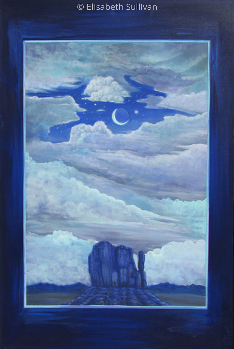 """Moon Over Monument Valley"" (large view)"